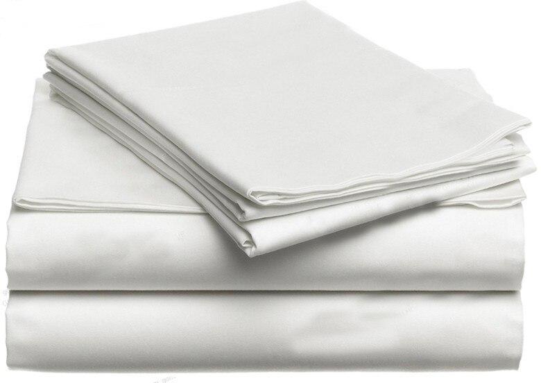 100% エジプト綿 1200 TC スーパーキングサイズのフラットシート布団カバー 260 × 290 センチメートルホワイトグレー色 n 個のカスタマイズ設定  グループ上の ホーム&ガーデン からの 寝具セット の中 1