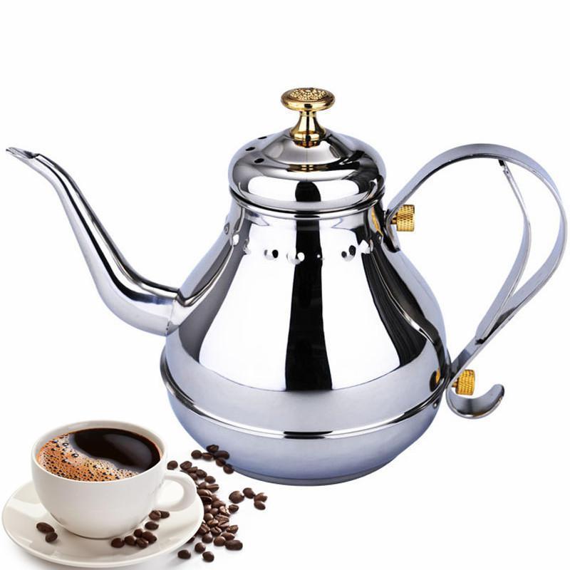 1.2L & 1.8L Espresso Coffee Maker Moka Pot Stainless Steel Coffee Brewer Kettle Pot European Style Kitchen Accessories Tools