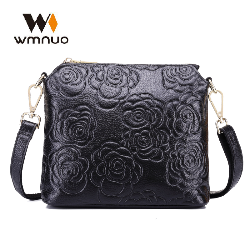 Wmnuo Brand Women Shoulder Bags Soft Cow Leather Large Capacity Female Evening Bag High Quality Handbags