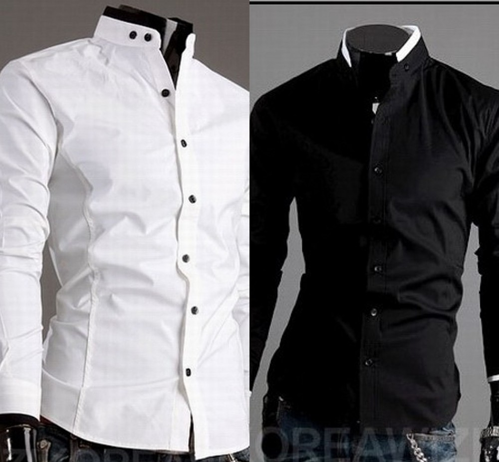 Free Shipping New Men 39 S Long Sleeve Shirts Designer Mens