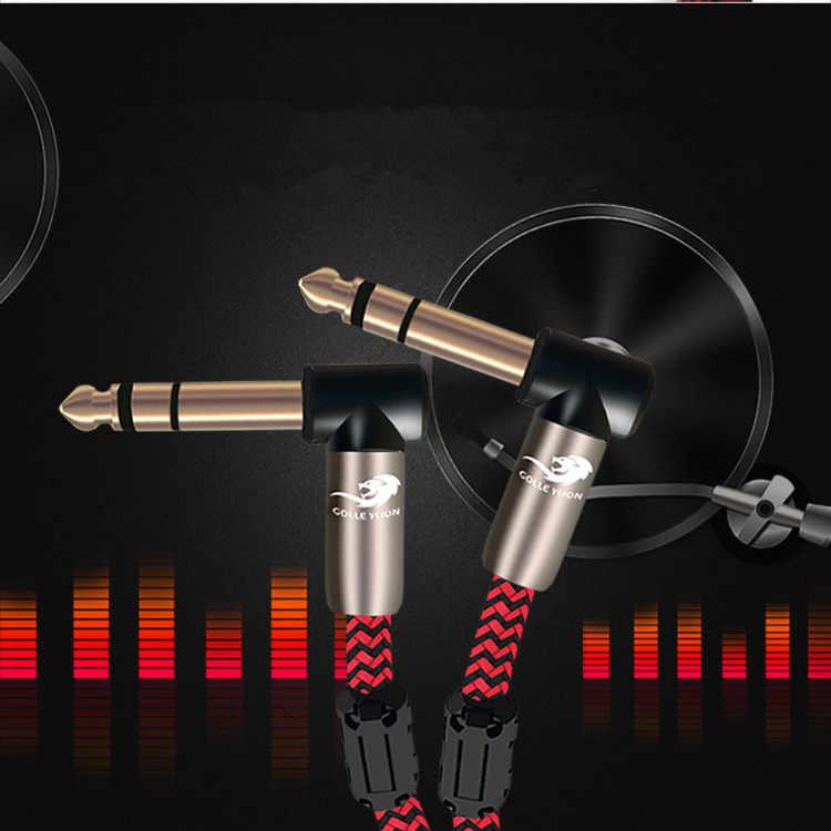 """Стерео TRS 1/4 """"до 1/4'' мужской 6,35 мм разъем аудио кабель усилители микрофоны Электрогитары микшерский пульт клавиатуры шнуры"""