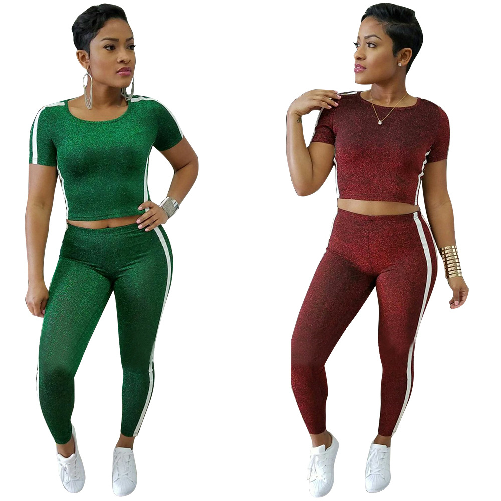 d2bb135769e7 Sexy Two Piece Jumpsuit Body Fashion Side Striped Overalls wine red ...