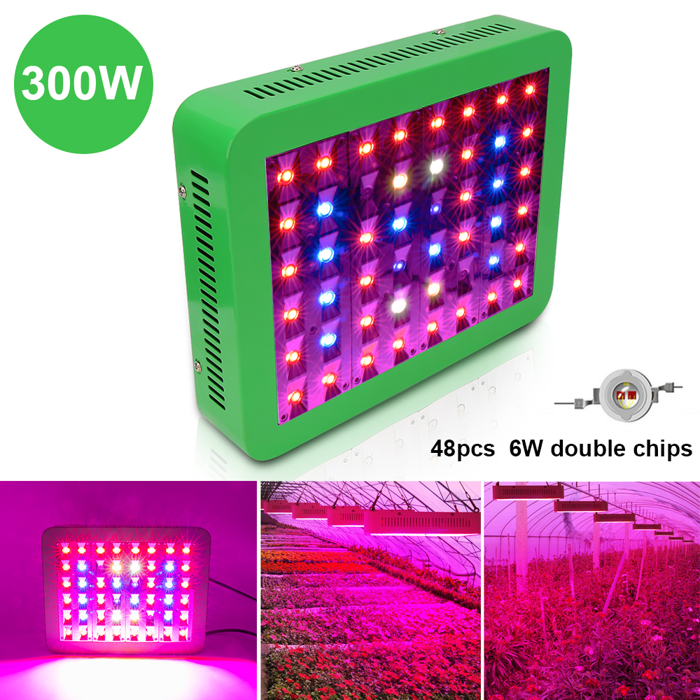 Newest 300W Growing Lamp 48leds Full Spectrum AC85 265V LED Grow Light for Flowering Plant and hydroponics smd chip 300w full spectrum ac85 265v led grow light for flowering plant and hydroponics system limited time offer
