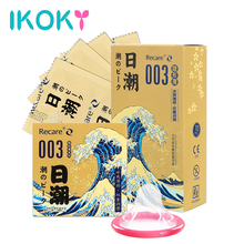 IKOKY 3pcs/10pcs Ultra Thin Lubricated Condoms Natural Latex Ice feels Mint Smell Sex Toys For Men Adult Products