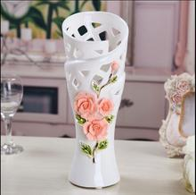Household simple ceramic vase, European jade porcelain handicraft room TV cabinet decoration