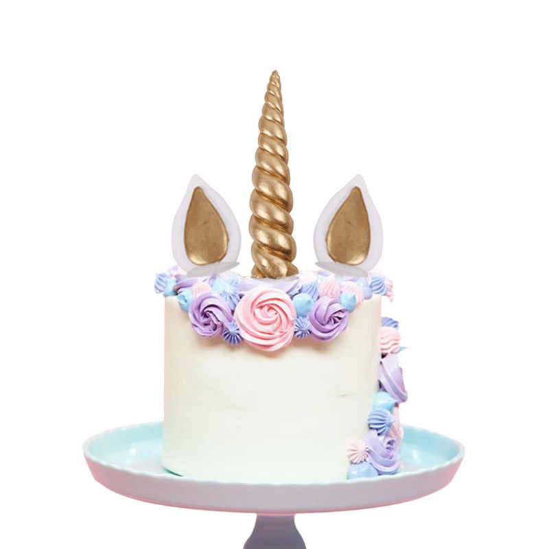 Cyuan Unicorn Baby Shower Cake Topper Cupcake Wrappers Party Accessories Kids Birthday Decoration