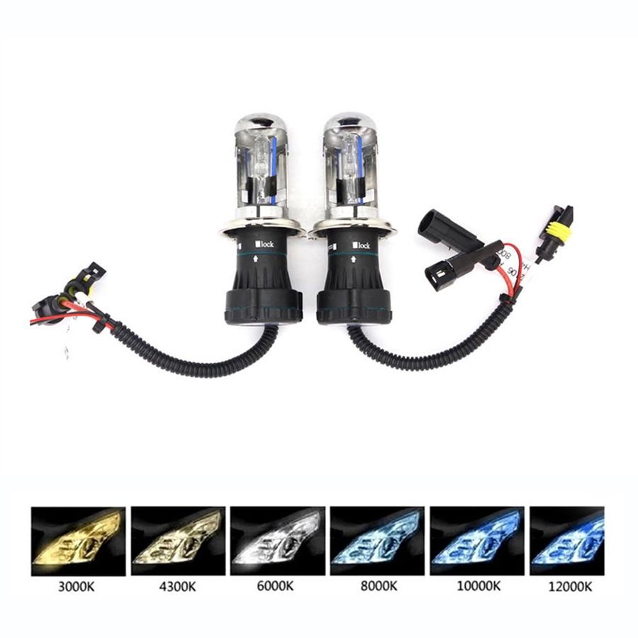 12V 35W 55W BIXenon H4 5000 H13 9004 9007 Headlight Bulb Replacement For Car Xenon 4300 6000 10000K WhiteH4 8000K