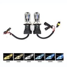 12V 35W 55W Bixenon h4 5000 H13 9004 9007 Сменные лампы фар для ксеноновые фары для автомобиля 4300 6000 10000K белый, H4 55W 8000K