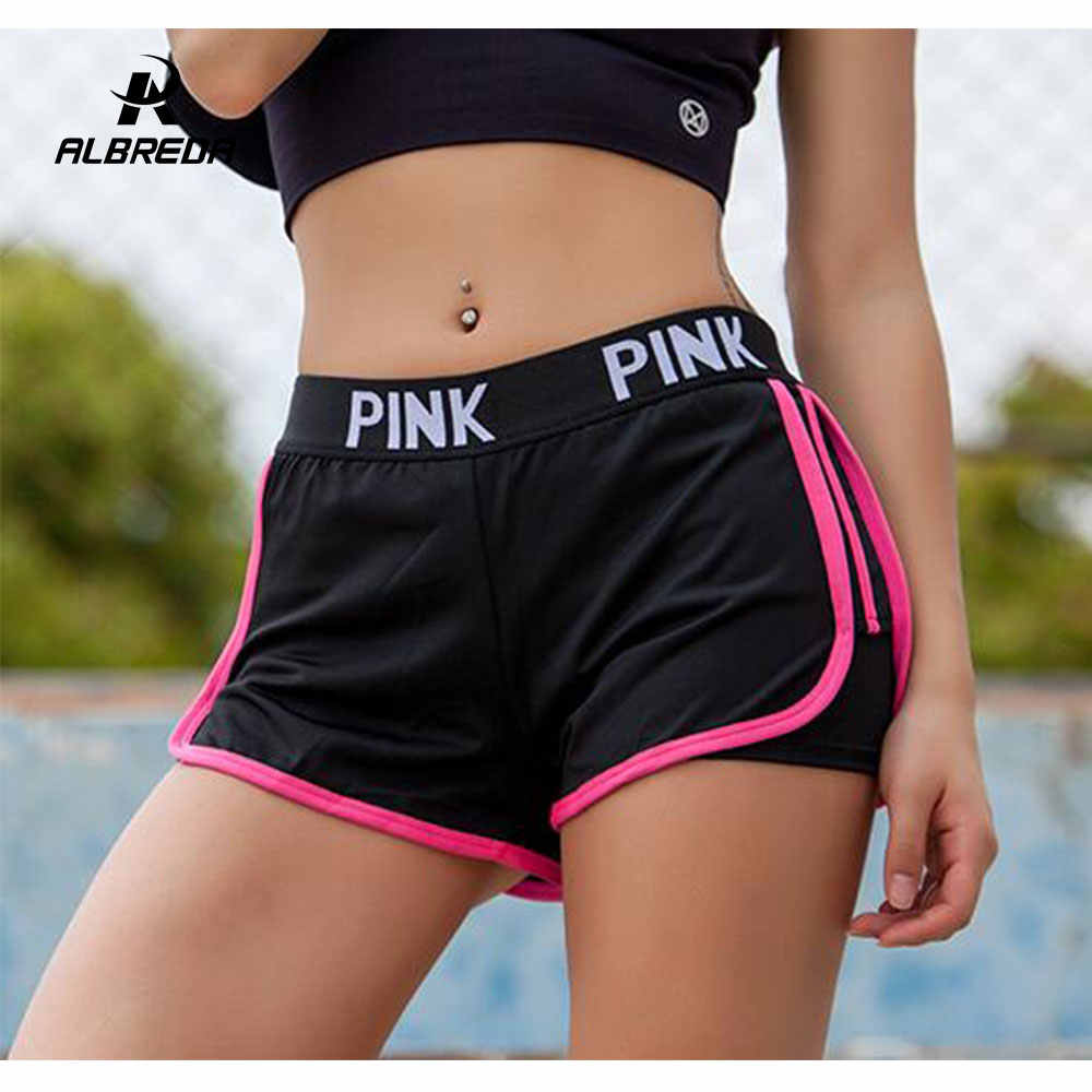 NEW Letter Sports runing Shorts Women Yoga Shorts Push Hips Sexy Middle Waisted Gym Fitness Elastic Quick Dry Running Shorts