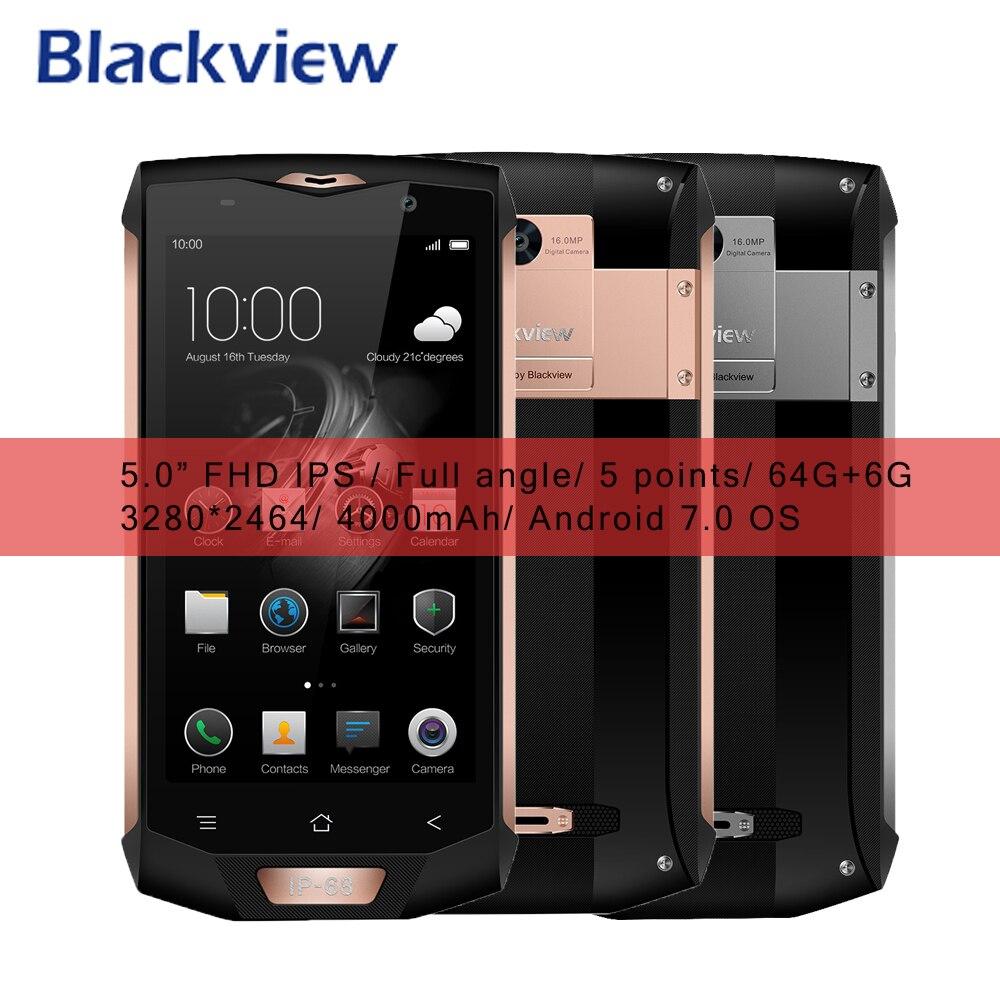 """bilder für Blackview BV8000 Pro 4G Smartphone Wasserdichte IP68 Android 7.0 MT6757V Octa-core 64G ROM 6G RAM 5,0 """"FHD Fingerprint Typ C kabel"""