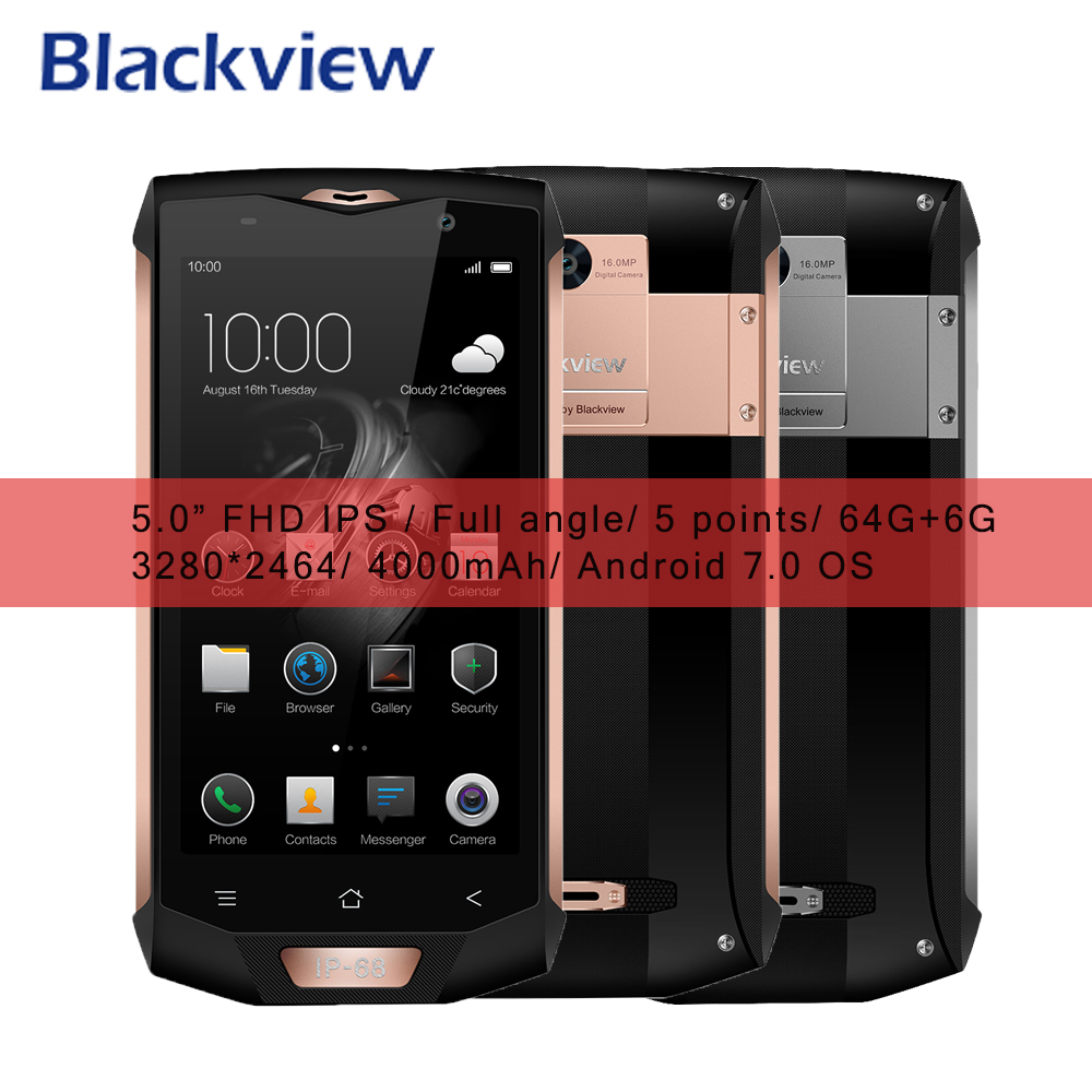 Blackview BV8000 Pro 4G Smartphone Waterproof IP68 Android 7 0 MT6757V Octa Core 64G ROM 6G