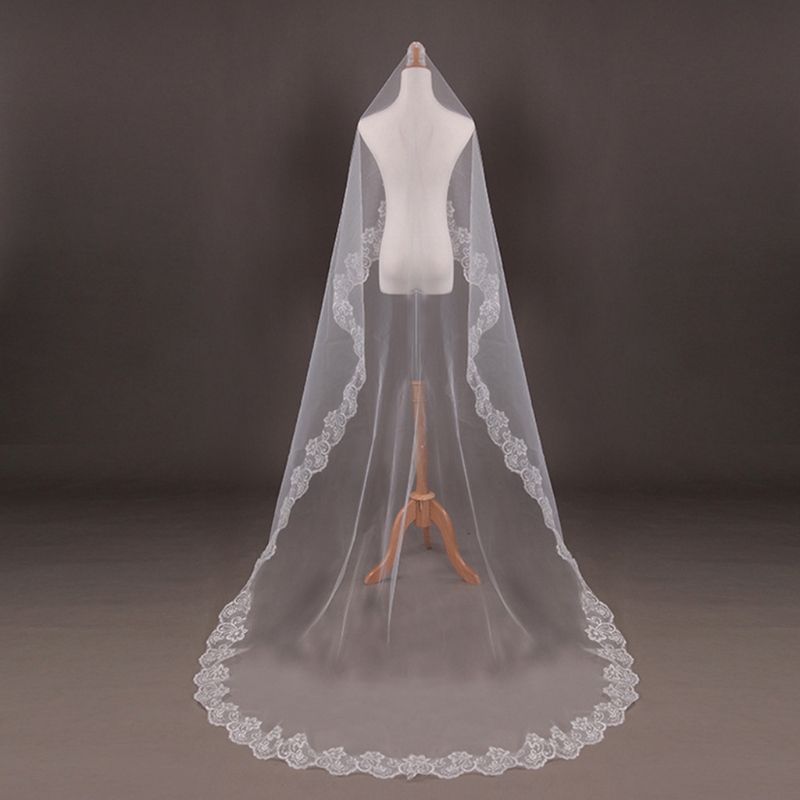 Wedding Bridal 2 Meters 3 Meters Long One Layer Veil Elegant Wedding Accessories