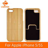 CORNMI For IPhone 5 Case Wood Real Bamboo Mobile Phone Bags Capa Covers Cases For IPhone