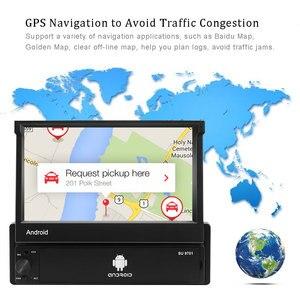 Image 2 - AMPrime 1din Autoradio Android wifi Car Multimedia di Navigazione GPS Autoradio Bluetooth Stereo Radio FM AUX USB Auto lettore Audio