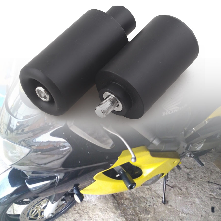 1 Paar Motorcycle Falling Protectors Onderdelen Geen Cut Delrin Frame Slider Anti Crash Frame Caps Zwart Voor Suzuki Gsxr1000 2003-2004