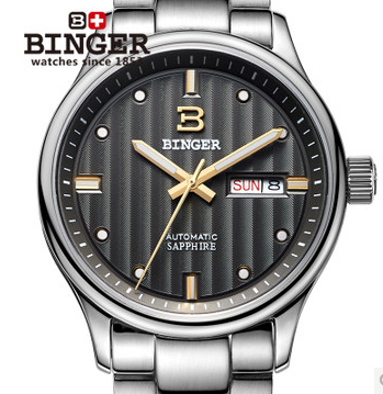 Fashion Waterproof Quartz Watches for Men Men's Brand Binger Stainless Steel Watch High Quality New Hours Wristwatch Luminous new arrival 2015 brand quartz men casual watches v6 wristwatch stainless steel clock fashion hours affordable gift