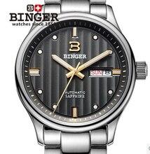 Fashion Waterproof Quartz Watches for Men Men's Brand Binger Stainless Steel Watch High Quality New Hours Wristwatch Luminous