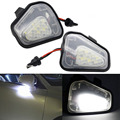 Error Free 18 LED White Car Under Side Mirror Light Puddle Lamp Car Light Bulbs for VW Passat EOS Scirocco CC E-marked Santana