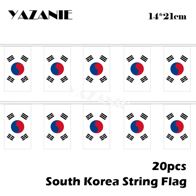 0f80873313a2 YAZANIE 14 21cm 20PCS South Korea String Flag Small World Country Flags and  Banners for New Year Labor Christmas Decoration