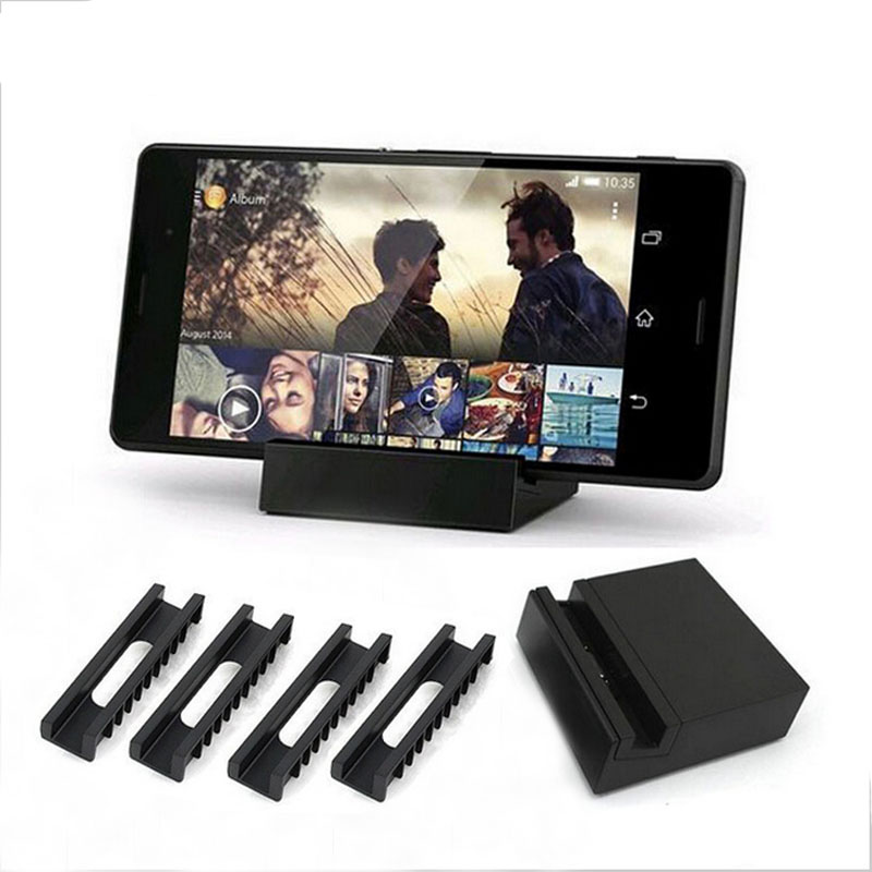 DK48 Magnetic Charging Docking Station Holder Stand Adapter For Sony <font><b>Xperia</b></font> Z1/Z2/<font><b>Z3</b></font> + <font><b>Z3</b></font> <font><b>Compact</b></font> Mini Dock <font><b>Charger</b></font> with 4 Slots