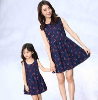2019 Mother Daughter Dress Fashion Family Clothing Cotton Women Girls Dress Mom And Daughter Dresses Family Matching Clothes