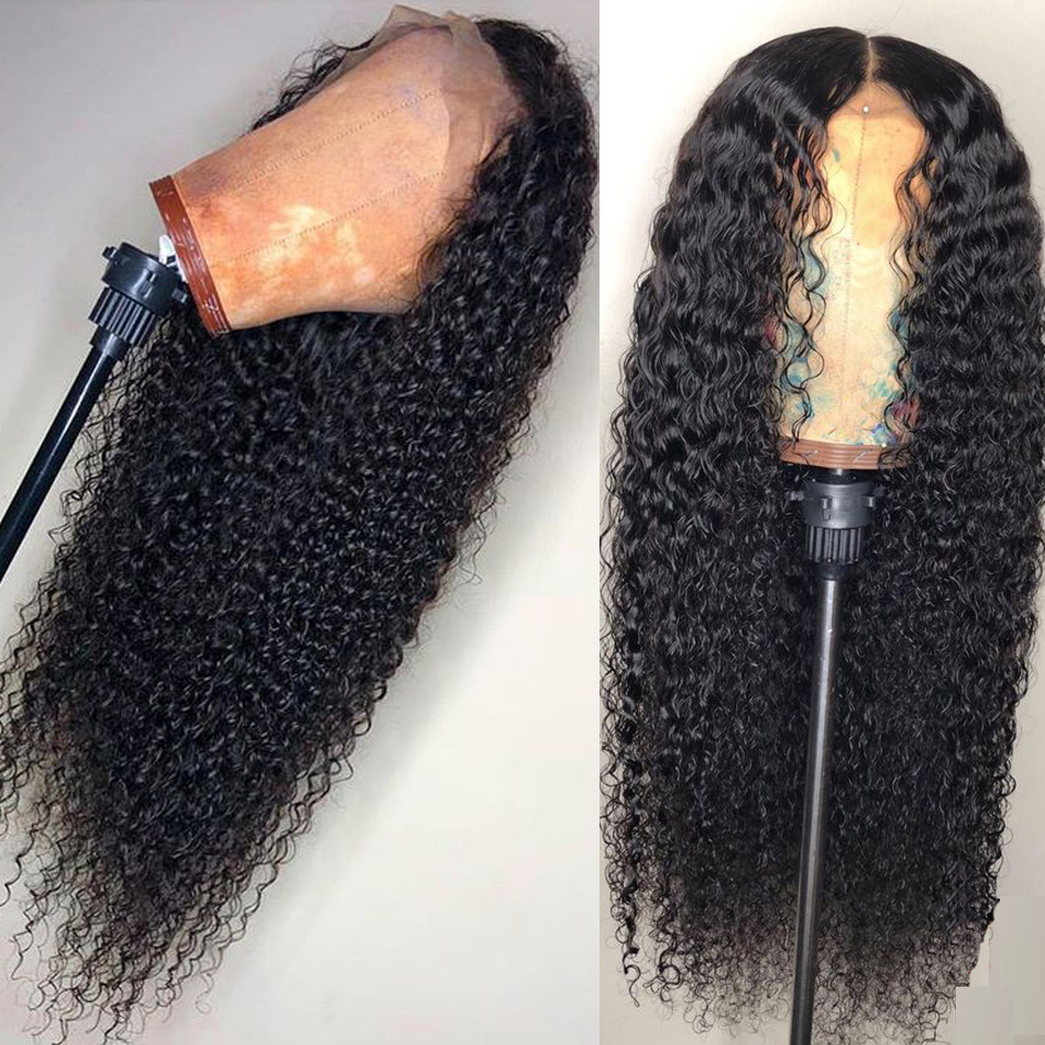 150 Density Malaysian Deep Wave Wig Lace Front Wig With Baby Hair Pre Plucked Lace Wigs
