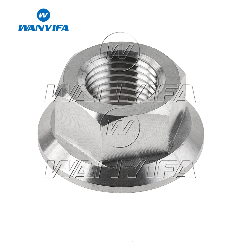 Wanyifa Titanium M5 M6 M8 M10 M12 M14 Flange Nuts for Bike Motorcycle Car in Nuts from Home Improvement