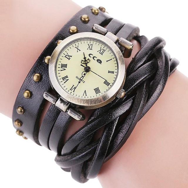 CCQ Luxury Brand Women Fashion Casual Alloy Leather Analog Quartz Women Watch Br
