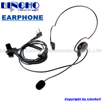 Behind The Neck Walkie Talkie Two Way Radio Motorcycle Headset Finger PTT Tactical Headset 2 Pin