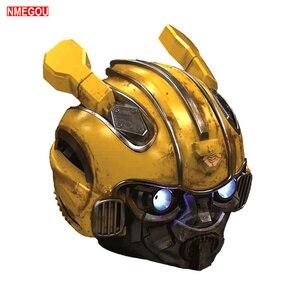 Image 2 - Bumblebee Helmet Bluetooth Speaker Fm Radio Usb Mp3 TF Smart Subwoofer Blue Tooth 5.0 Portable Mini Wireless Stereo Loudspeakers