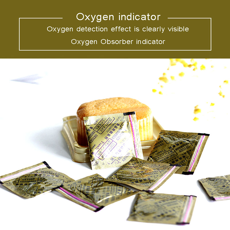 30CC Oxygen Absorbers Indicator 400pieces Individual Bags Deoxidizer Color Changing Oxygen Indicator Keep Dry Food Fresh