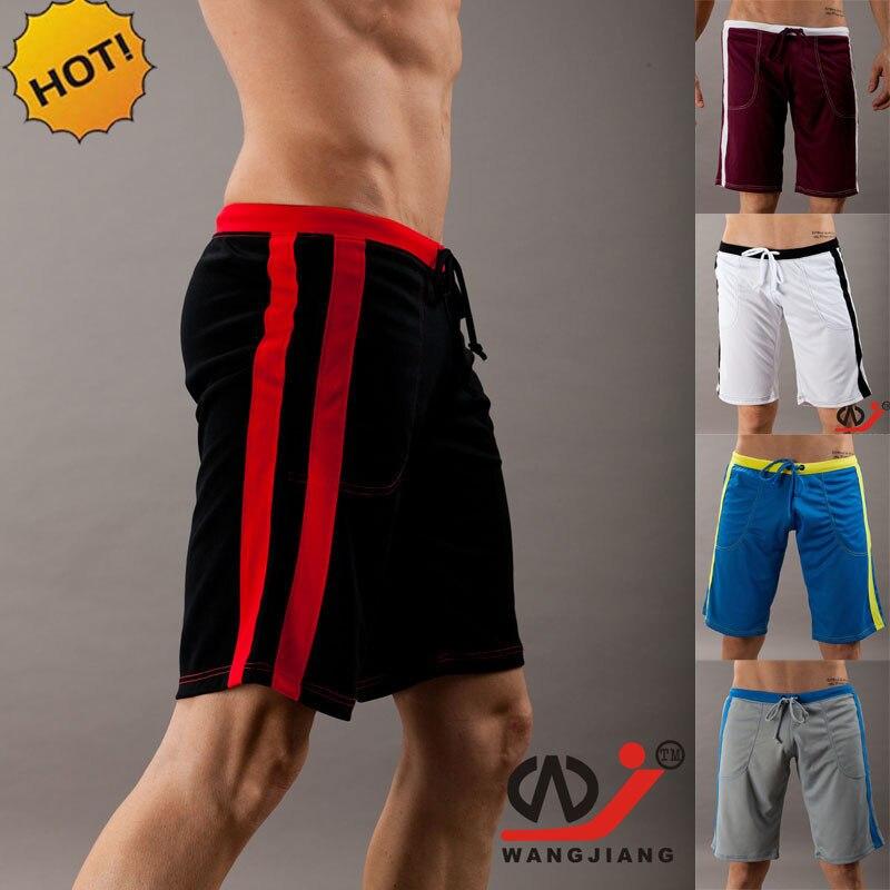 Wholesale 2019 Outdoor Summer Sport Joggers Running Teenis Loose Stripe Quick Drying Drawstring Bermuda Jog Shorts Men Homme