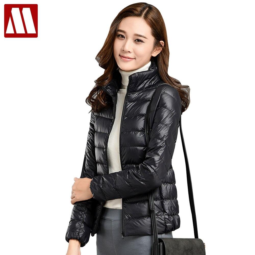 2019 Winter jacket Woman Outerwear Slim Lady Down Jacket Woman's Warm Down Coat Women Ultra Light Jackets White Duck Down Parkas