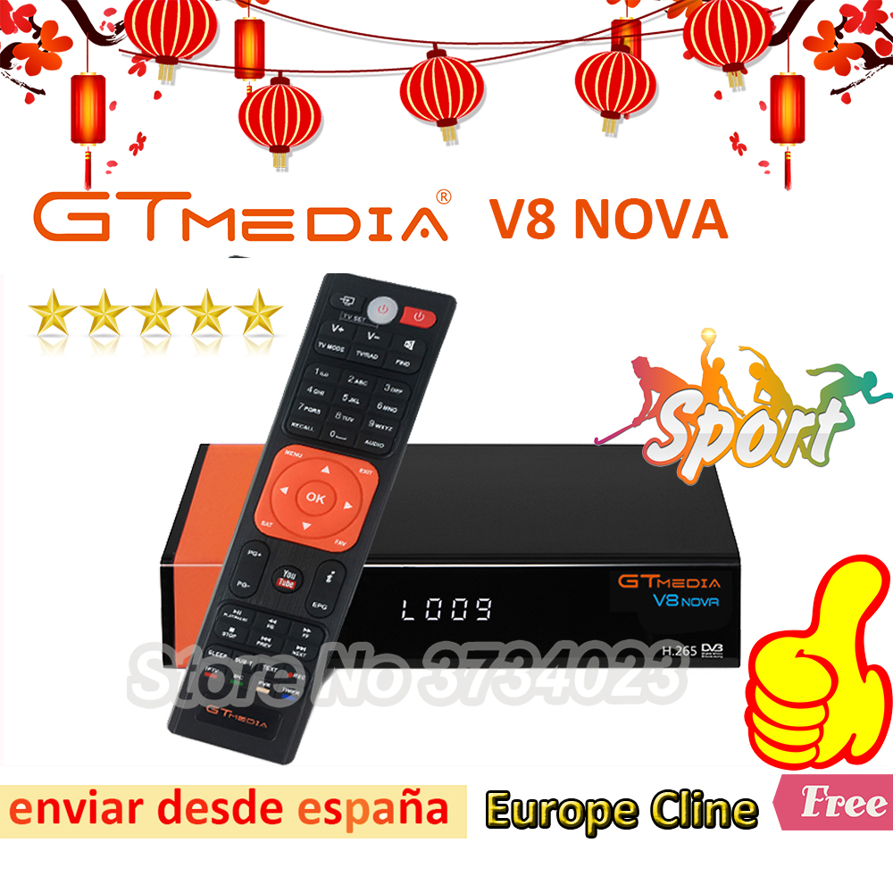 1 Year Europe Cline Genuine Freesat GTMedia V8 Nova Full HD DVB S2 Satellite Receiver Same