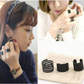 3 Pcs Punk Fashion Rings for Women Anel 2016 Anillos Black Stack Plain Above Knuckle Ring Band Midi Finger Ring Set