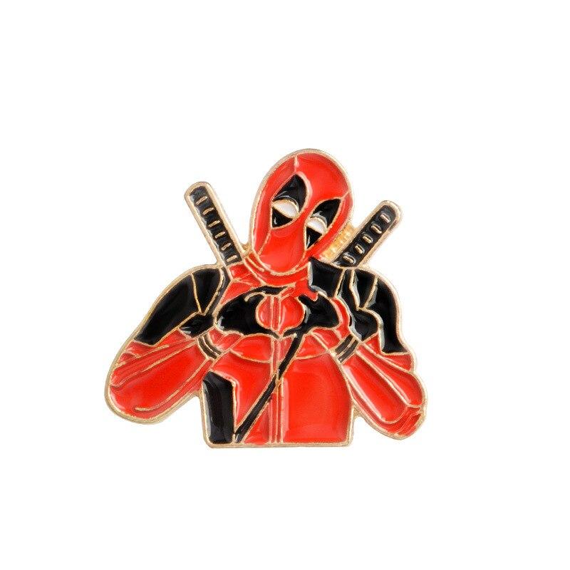 Ambitieus Deadpool 2 Broches Goud Emaille Kleur Pin Voor Rugzak/tas/jeans Kleding Badge Revers Pin Sieraden
