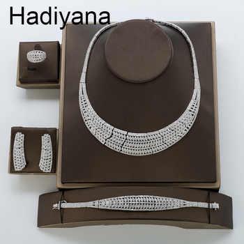 Jewelry Sets HADIYANA New Fahion Elegant Romantic Cubic Zirconia Luxury Simple Atmosphere High Quality TZ8127 Conjunto de joyas - DISCOUNT ITEM  50% OFF All Category