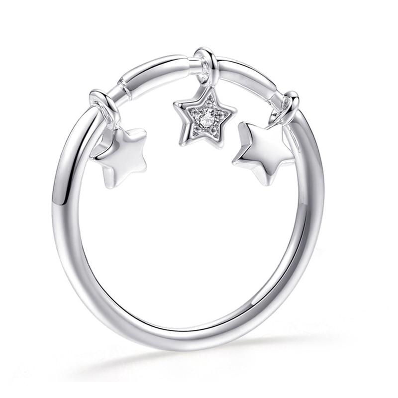Модное Сверкающее циркониевое серебряное кольцо для женщин, цветочное сердце, корона, кольца на палец, фирменное кольцо, ювелирное изделие, Прямая поставка - Цвет основного камня: 40