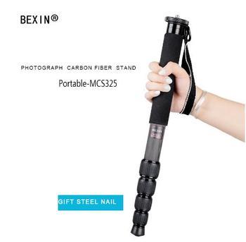 Universal Flexible Lightweight Carbon Fiber 5-Section Monopod Unipod 1650mm Height DSLR Camera