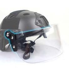 Casco táctico al aire libre rápido MICH AF Vintage duradero parabrisas lente antidisturbios guía riel conectado máscara CS lente protectora facial