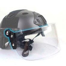 Винтажный прочный тактический шлем Fast MICH AF, для активного отдыха, защита от лобового стекла, объектив, направляющая, соединительная маска, защитные линзы для лица CS