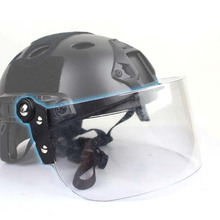 Outdoor Tactical Fast MICH AF Helmet Vintage Durable Windscreen Anti Riot Lens Guide Rail Connected Mask CS Face Protective lens