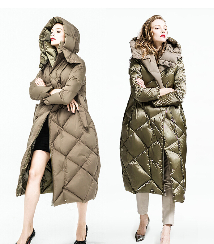 90% Goose Down 2016 Winter Jacket Women down Parkas thicken Down coat hooded casual reversible down coats female long design 3XL цены онлайн