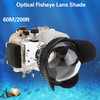 Mcoplus Underwater waterproof Camera 67mm fisheye wide angle lens for Canon Nikon Sony TG4 TG5 GX7II G11/G12 waterproof Case