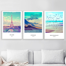 Paris Tower Island Bird Wall Art Canvas Painting Posters And Prints Nordic Poster Landscape Pictures For Living Room Decor
