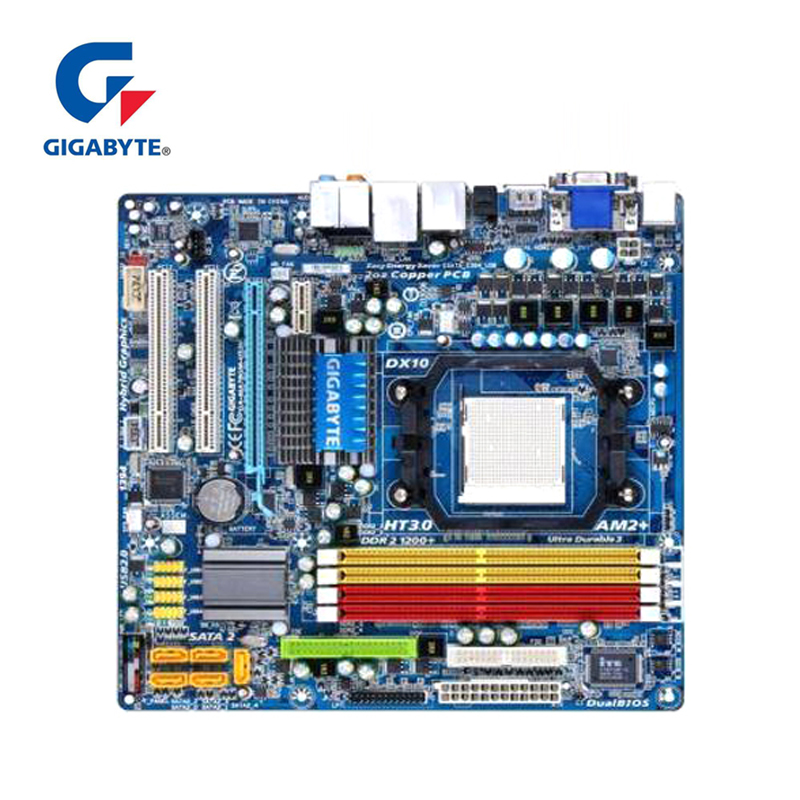 100% Gigabyte GA-MA78GM-US2H Motherboard For AMD Phenom FX/X4/X3 780G DDR2 16GB AM2/AM2+/AM3 MA78GM US2H Desktop Mainboard Used
