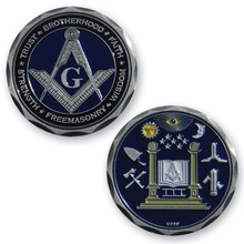 New & Best Selling Coins : MD69 Masonic Coin best selling copper engraving coin new blank coin
