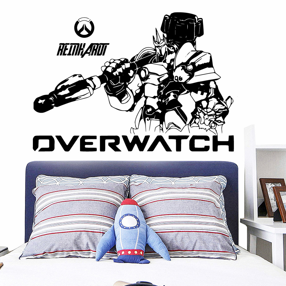 Cartoon Robot Overwatch Home Decoration Accessories For Kids Rooms Home Decor Art Decor Wallpaper