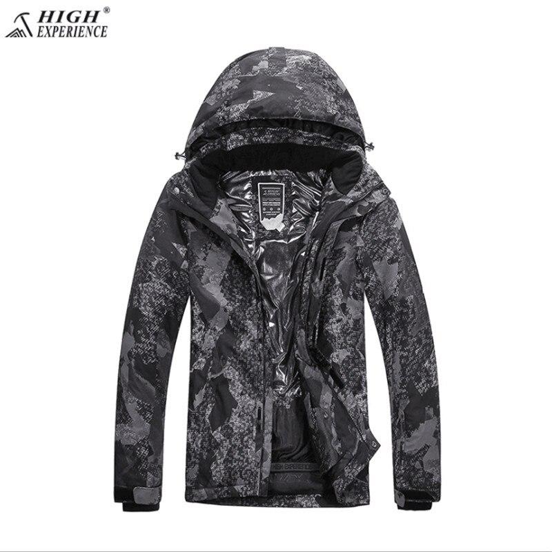 High Experience. бренд Для мужчин зимняя Лыжная куртка S XXL Размеры длинные ветровки для Для мужчин зимние куртка границы камуфляж