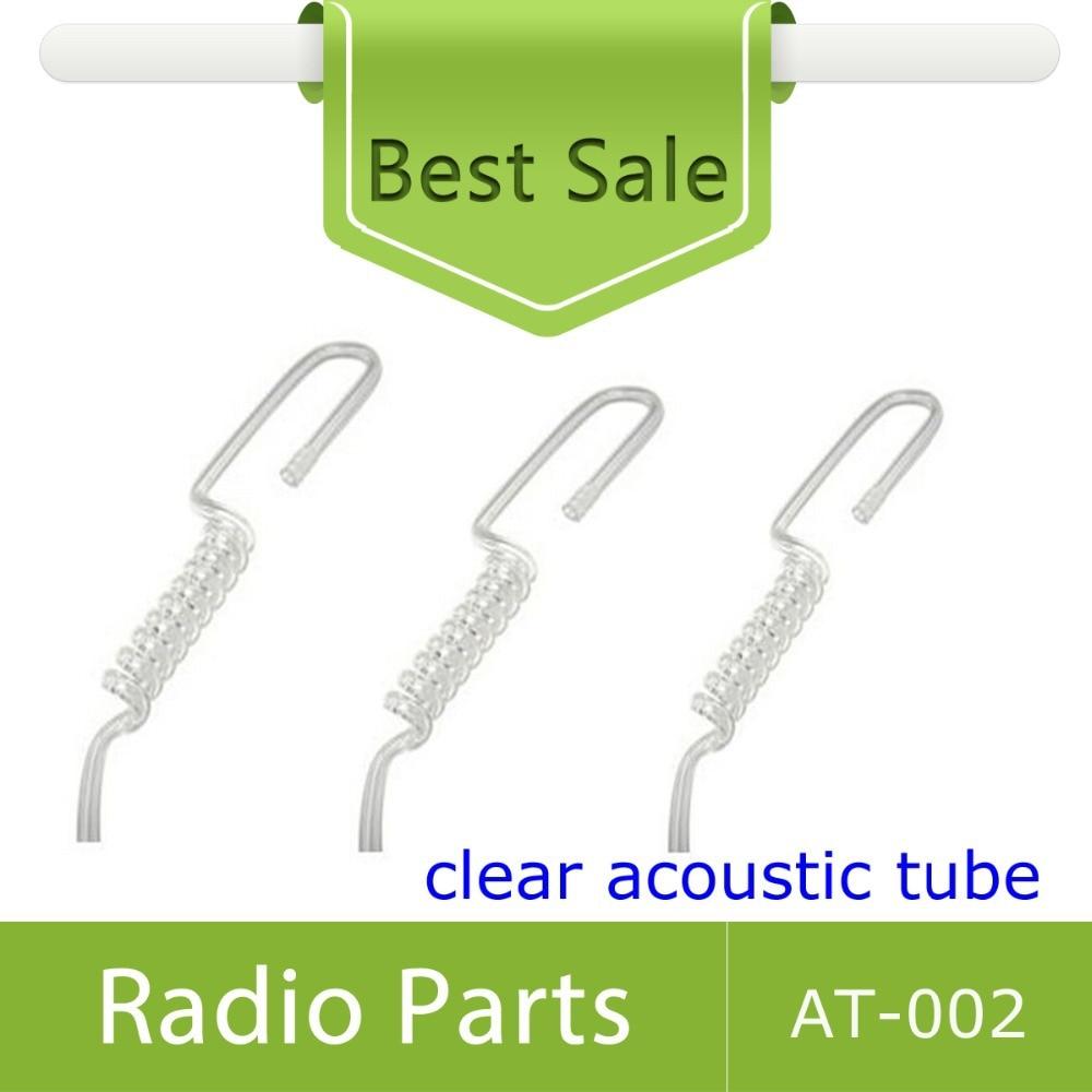 bilder für 2X Ersatz Spule Klar Farbe Akustische Rohr PU-Material Für die Überwachung Kopfhörer
